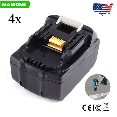 4X Replace Battery for Makita BL1830 BL1815 3.0Ah 18-Volt LXT Lithium-Ion 18V