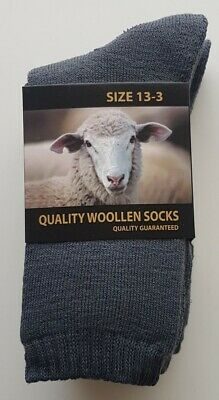 3 Pairs Brand New Boys Sz 13-3 Grey Thermal Wool Socks