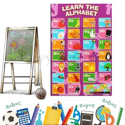 New Alphabet Poster Learn My ABC Wall Chart Fun Children's Educational 20 x13""