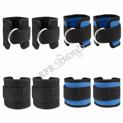 D-ring Ankle Weights Adjustable Leg Wrist Strap Running Gym Training Exercise