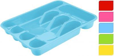5 Compartment Plastic Cutlery Holder Tray Drawer Rack Caddy Choice Of Colours