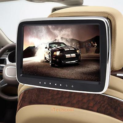 "10.1"" Digital HD Car Headrest Active Monitor LCD MP3 MP5 Media Player FM/USB/SD"