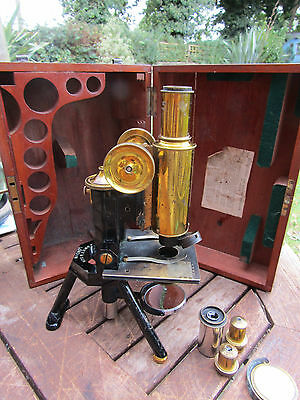 c1895  J SWIFT & SONS, London NEW HISTOLOGICAL & PHYSIOLOGICAL Microscope