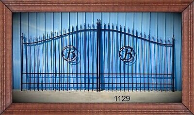 Custom Built Aluminum Driveway Entry Gate 16ft WD DS Fencing Residential