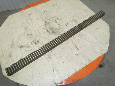 """L-167336028 Steel Spur Gear Rack 4 Pitch 64 Tooth 2-1/2""""x4'"""