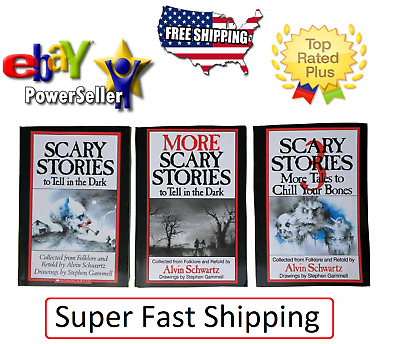 Scary Stories To Tell In The Dark Set of 3 Volume 1,2,3,original drawings New