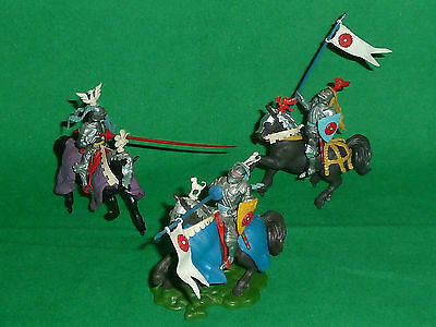 britains herald swoppet plastic soldiers 1:32 mounted knight war of the roses