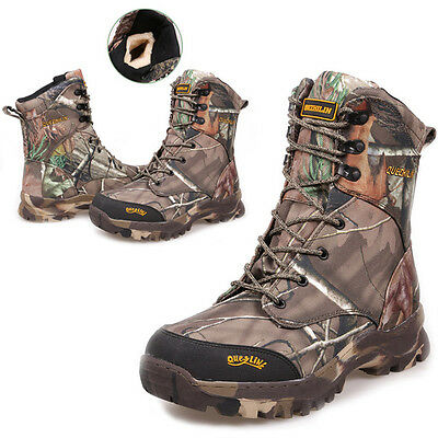 Men's Tactical Military Deployment Ankle Boots Hunting Hiking Camo Fleeces Shoes
