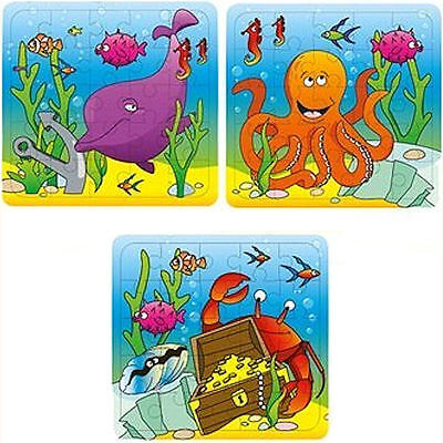 6 sealife,under the sea,jigsaw puzzles.Toy Loot/Party Bag Fillers.