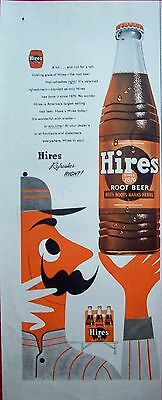 1955 Hires Root Beer Baseball Player Hires Refreshes Right ad