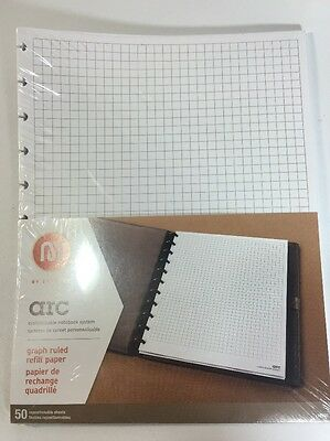 Graph Paper - M BY STAPLES ARC CUSTOMIZABLE NOTEBOOK SYSTEM REFILL PAPER GRID