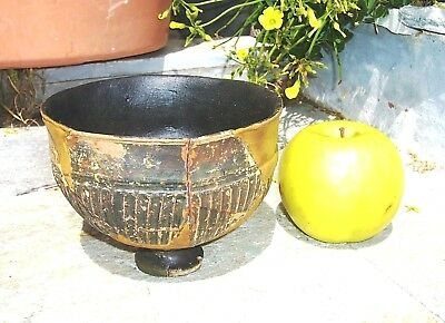 UNIQUE AUTHENTIC ANCIENT ATTIC POTTERY TERRACOTTA FOOTED BOWL ca.5th CENTURY BC