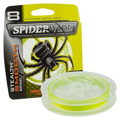 Spiderwire Stealth SMOOTH 8 Fishing Braid - YELLOW - All Breaking Strains