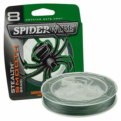 Spiderwire Stealth SMOOTH 8 Fishing Braid - GREEN - All Breaking Strains