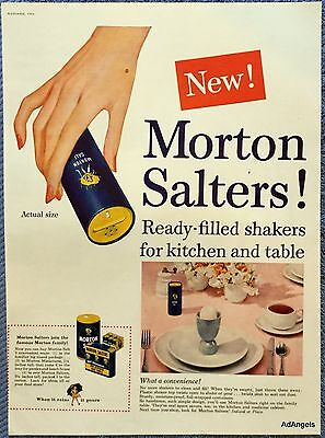 1954 Morton Salt New Ready Filled Shakers Convenience ad