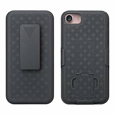 Apple iPhone 7 Shell Holster Combo Case with Kick-Stand & Belt Clip