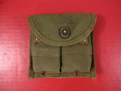WWII M1 Carbine Magazine Belt Pouch - OD Green - Dated 1945 - Nice Cond. #3