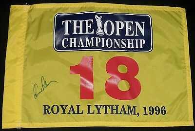 Arnold Palmer Autographed Open Championship Golf Flag (W/ Proof!)