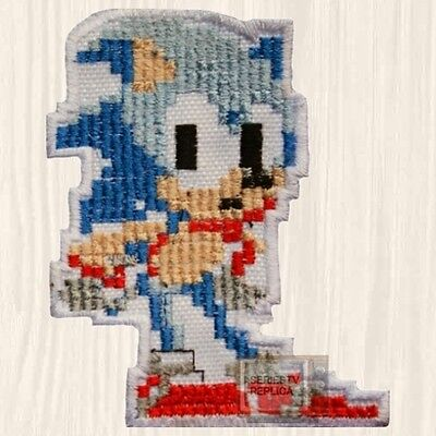 Sonic Pixel Embroidered Patch The Hedgehog Sega Genesis Tails Knuckles Videogame