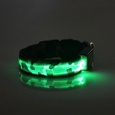Camouflage LED Night Light Dog Collar-6 Different Colors-4 Flash Modes
