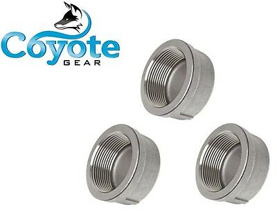 "3 Pack Lot: 3/4"" NPT Pipe Nipple Cap 304 Stainless Steel Coyote Gear SS"