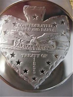 7/8 Oz. Yakima American Native  Indian Tribal Nations Silver.999 Coin +Gold