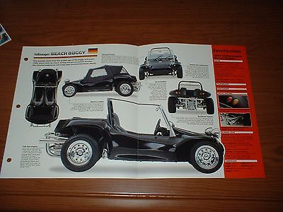 ★★1967 Volkswagen Beach Buggy Spec Sheet Brochure Photo Poster Print 67 Dune★★