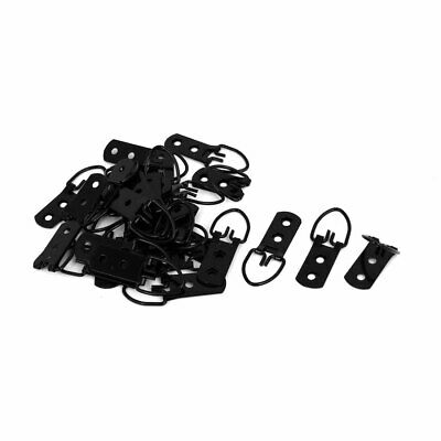 52mm x 20mm Triangle D-Ring Picture Frame Hanging Hangers Hooks 30PCS w Screws