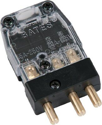Marinco (20M-X) Bates Stage Pin (20A / 125V) Male Inline - Clear (X) Cover