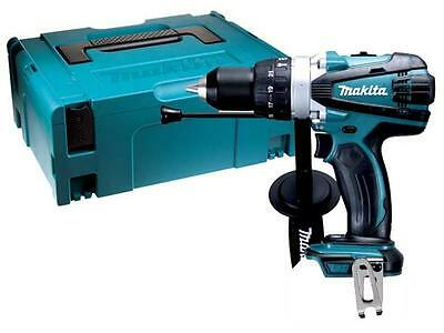 Makita Dhp458Zj 18 Volt Cordless Lithium Ion Combi Hammer Drill (Bare) In Case!