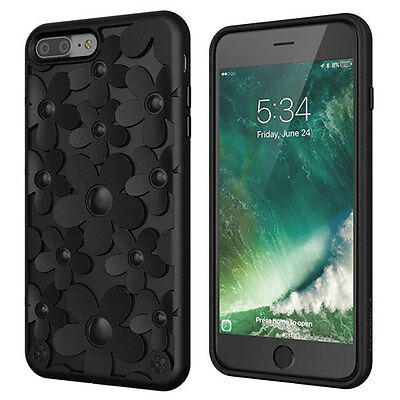 Switcheasy Fleur Tpu Hybric Protective Case Cover For Iphone 7 Plus - Black