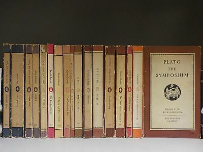 17 Mixed Colour Penguin Books (1950's) (ID:39144)