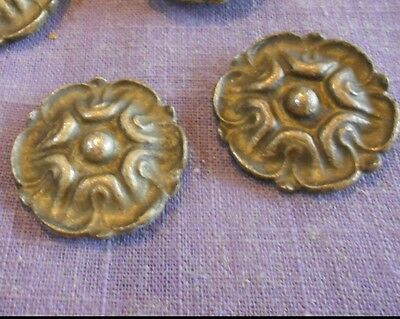 Pair of Antique french Bronze hole Covers Plaques mounts Ornaments