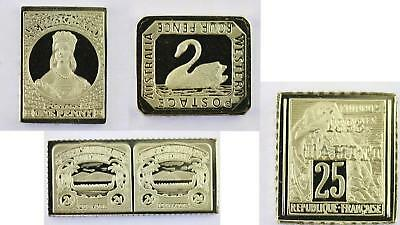 100 Greatest Stamps Collection 925 Silver Bar Replicas Australasia Postage Stamp