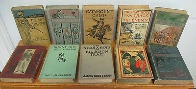 Vintage Boys' Series & Adventure Book Lot; Henty, Castlemon, Ellis etc