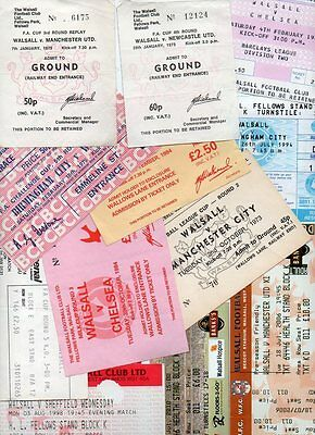 Walsall home TICKETS mainly Cup and friendlies PART II