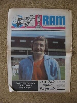 Derby County v Ipswich Town 1975/76 Programme