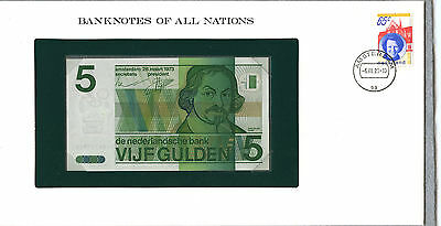 Netherlands ~ 1973 ~ 5 Gulden Note ~ Gem Crisp Uncirculated ~ Rare!