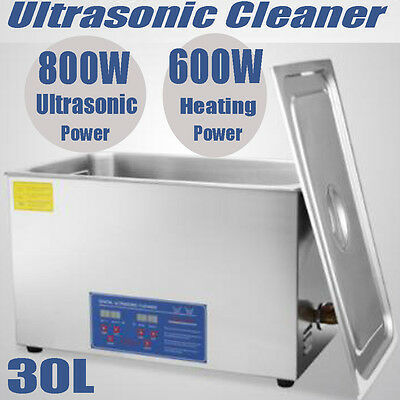 30L Digital Ultrasonic Cleaner Stainless Heater Timer Ultra Sonic LCD Tank New