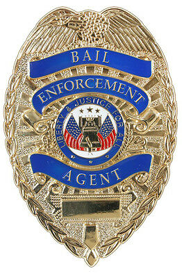 badge gold bail enforcement agent zinc alloy rothco 1947