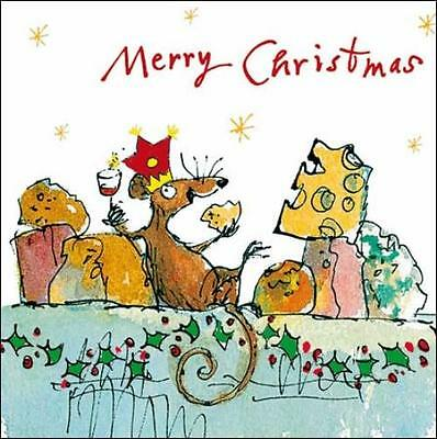 Pack of 5 Quentin Blake ChildLine Charity Christmas Cards Xmas Card Packs