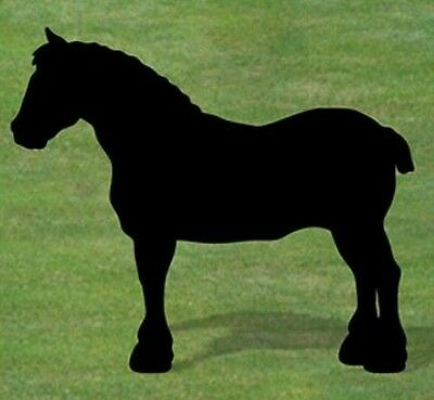 "NEW Handmade Lawn Art Yard Shadow Silhouette - Small Clydesdale Horse 43"" x 47"""
