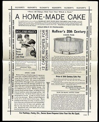 HAFFNER'S 20th Century CAKE PAN c 1900-10 - Flyer Two Sided Advertisement
