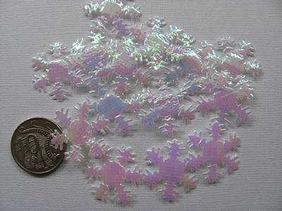 BB SNOWFLAKES IRIDESCENT 25mm EMBELLISHMENT pk of 20 christmas decoration craft