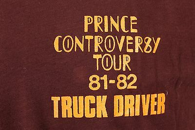 """Vtg 1981-82 """"Prince"""" Controversey Tour Road Crew T Shirt Mens Large"""