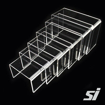 Set of 6 Cyrstal Clear Acrylic stepped Riser Display - Jewellery Stand