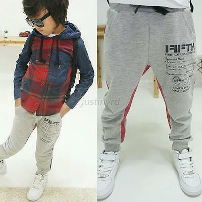 Cute Baby Kids Boy Cotton Harem Pants Pattern Printed Casual Long Pants Trousers