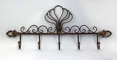 Metal Hook rail brown ornamental decorated 9937442
