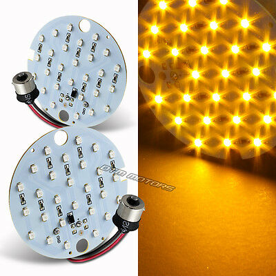 2X Amber 27 SMD LED 1156 Rear Turn Signal Panel Light Bulb For Harley Davidson