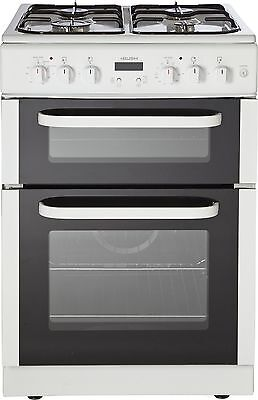 Bush BDFD60W 60cm Free Standing Double Dual Fuel Cooker - White -From Argos ebay